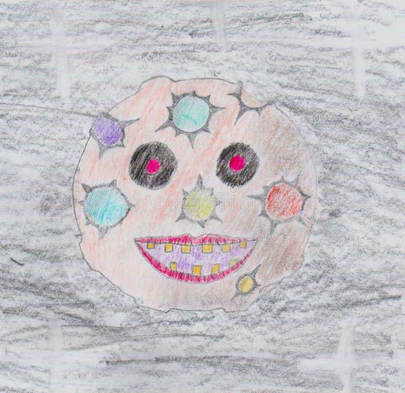 Lua louca assustador ilustração royalty free
