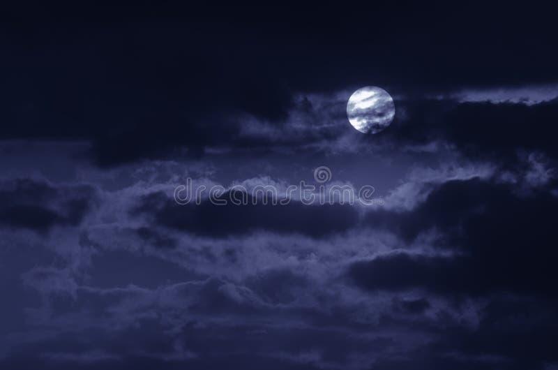 A lua no céu escuro imagem de stock