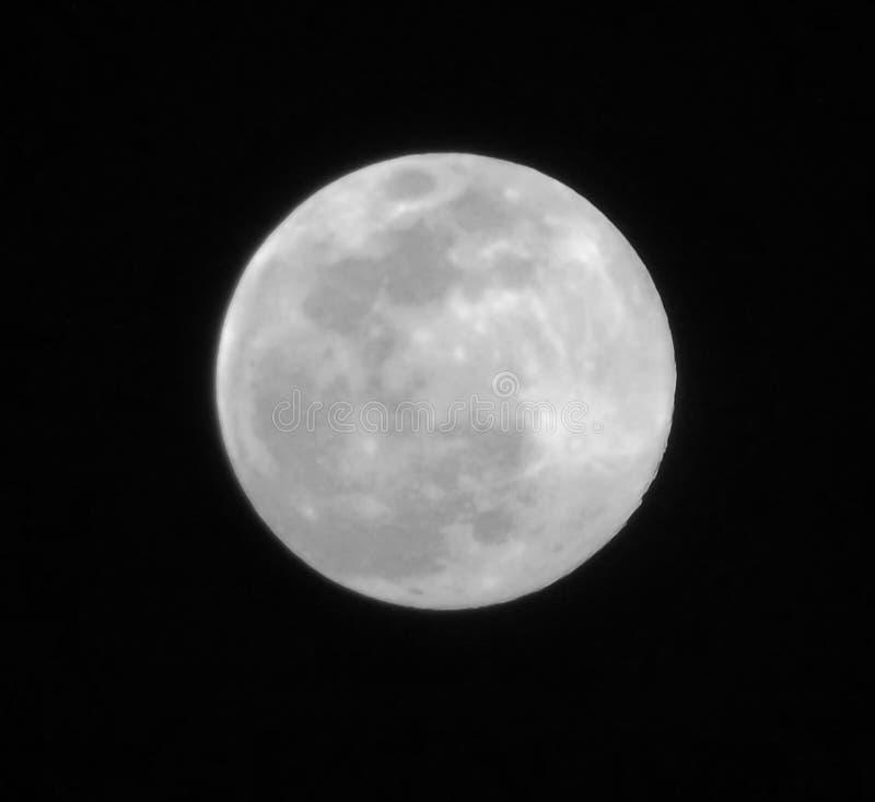 lua no céu escuro fotos de stock