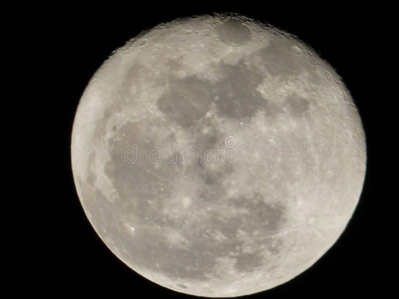 A lua, o planeta de Forgoten imagens de stock