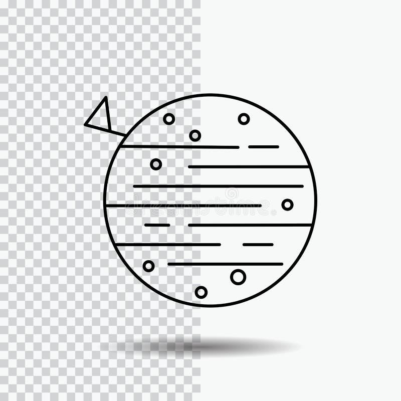 lua, planeta, espaço, squarico, linha ícone da terra no fundo transparente Ilustra??o preta do vetor do ?cone ilustração do vetor