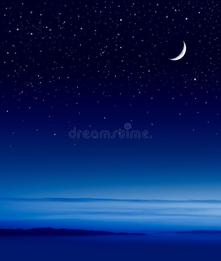 Lua sobre o oceano foto de stock