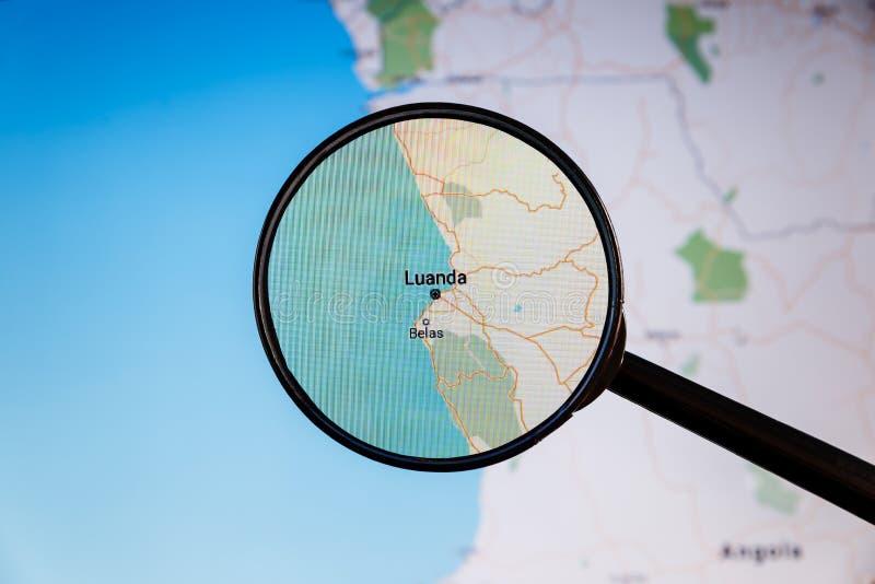 Luanda, Angola correspondencia pol?tica fotografía de archivo libre de regalías