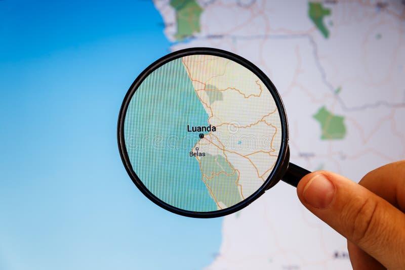 Luanda, Angola correspondencia pol?tica fotografía de archivo