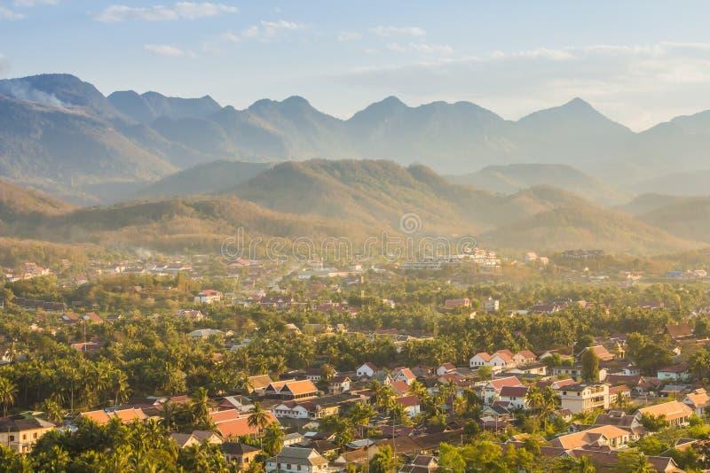 Luang Prabang acima da vista, Laos fotos de stock royalty free