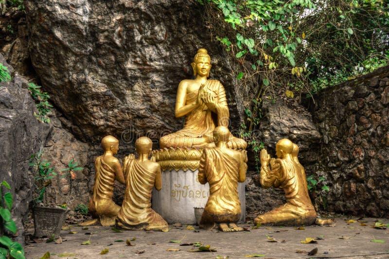 Luang Prabang en de Mekong Rivier van MT Phousi stock afbeeldingen