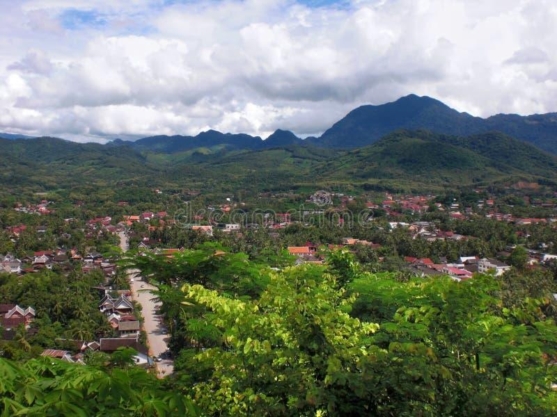 Luang Prabang i Laos arkivbilder