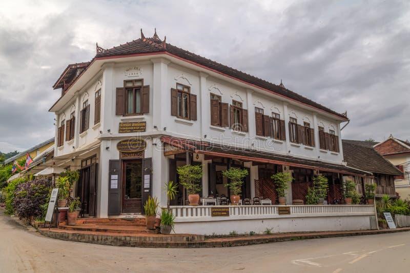 Luang Prabang, Laos - circa agosto 2015: Hotel di Saynamkhan in Luang Prabang, Laos immagine stock libera da diritti