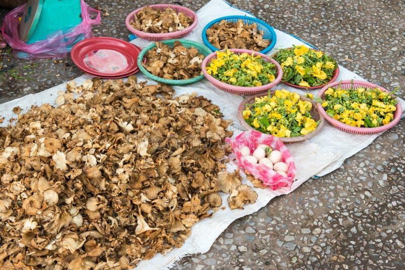 Luang Prabang, Laos - 13 giugno 2015: Mercato di mattina di Luang Prabang fotografia stock