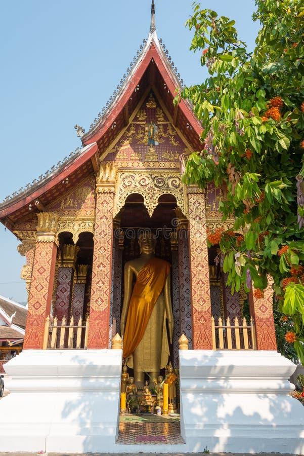 Luang Prabang, Laos - Mar 05 2015: VAT SENSOUKHARAM. a famous te stock images