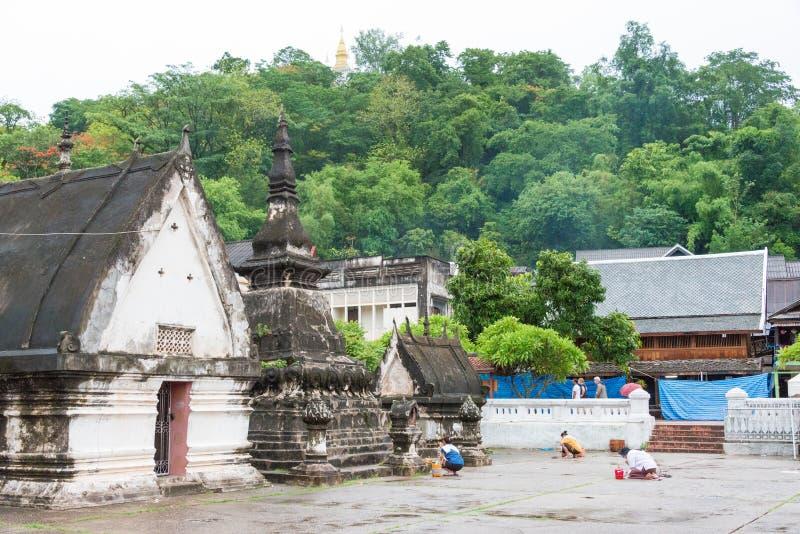 Luang, Prabang, Louangphrabang, πόλη, Λάος, ναός, μοναστήρι, α στοκ εικόνες με δικαίωμα ελεύθερης χρήσης