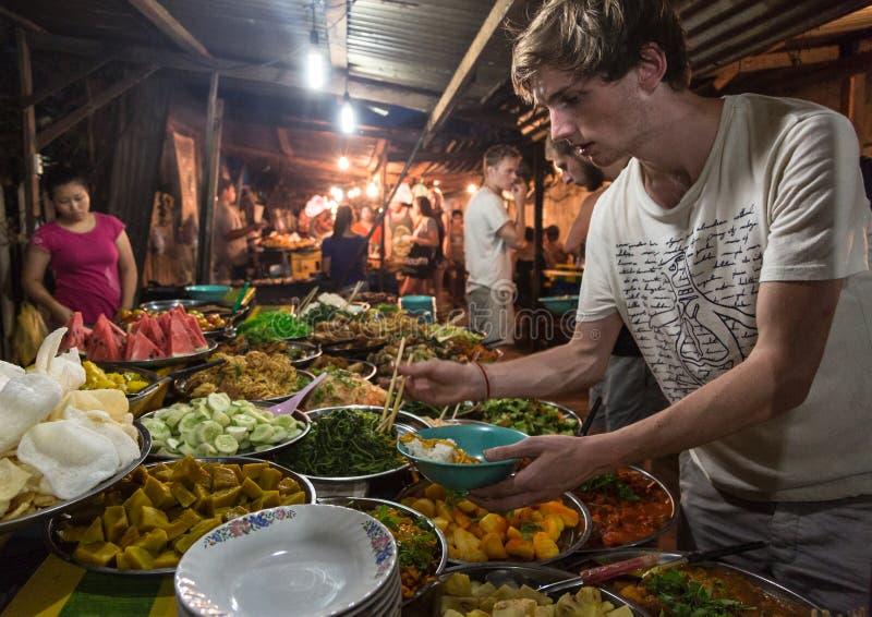 Luang Prabang night market royalty free stock photography