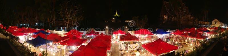 Download Luang Prabang Night Market Panorama Stock Photo - Image: 14329514
