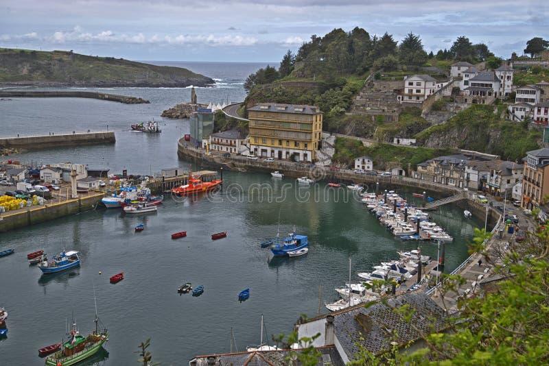Luarca, Asturias, Spanje royalty-vrije stock foto