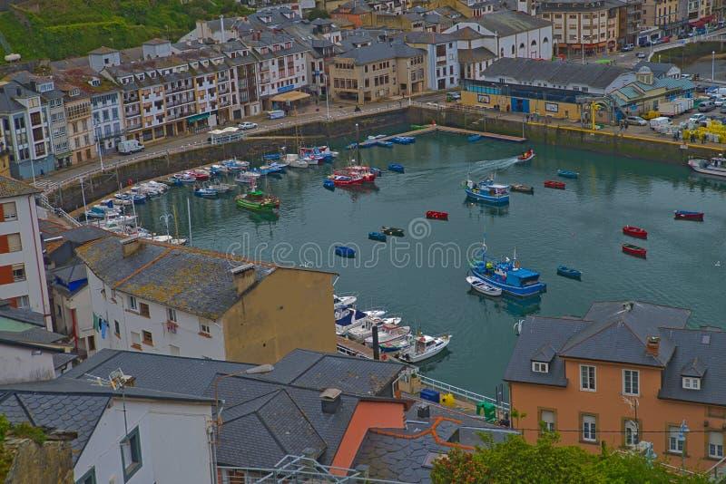 Luarca, Asturias, Spanje stock fotografie