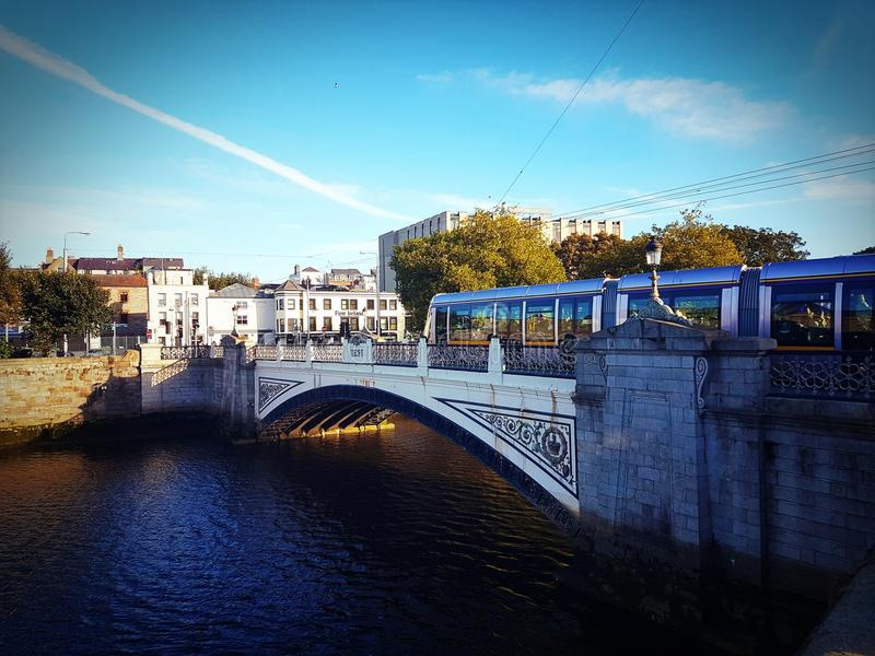 Luas Bridge. Bridge at Heuston royalty free stock photo