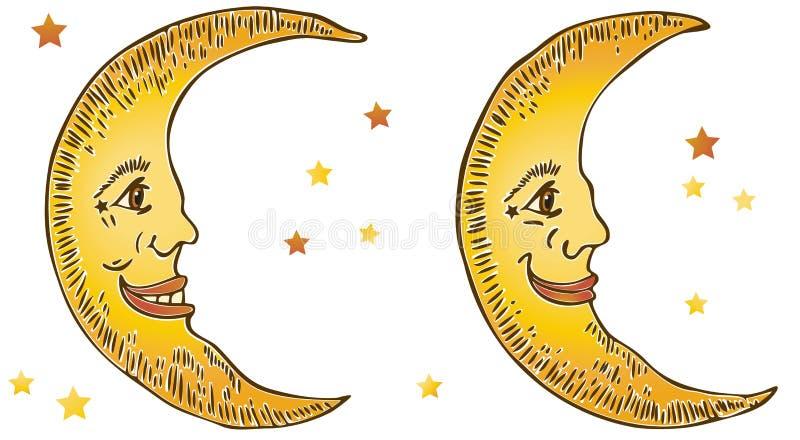 Luas de sorriso ilustração stock