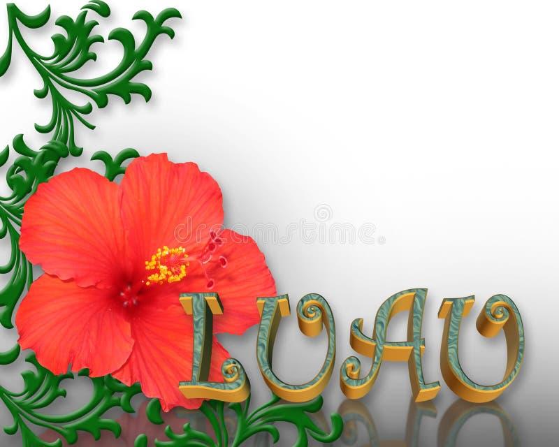 Download Luau Invitation Hibiscus Background Stock Illustration - Illustration: 6838009
