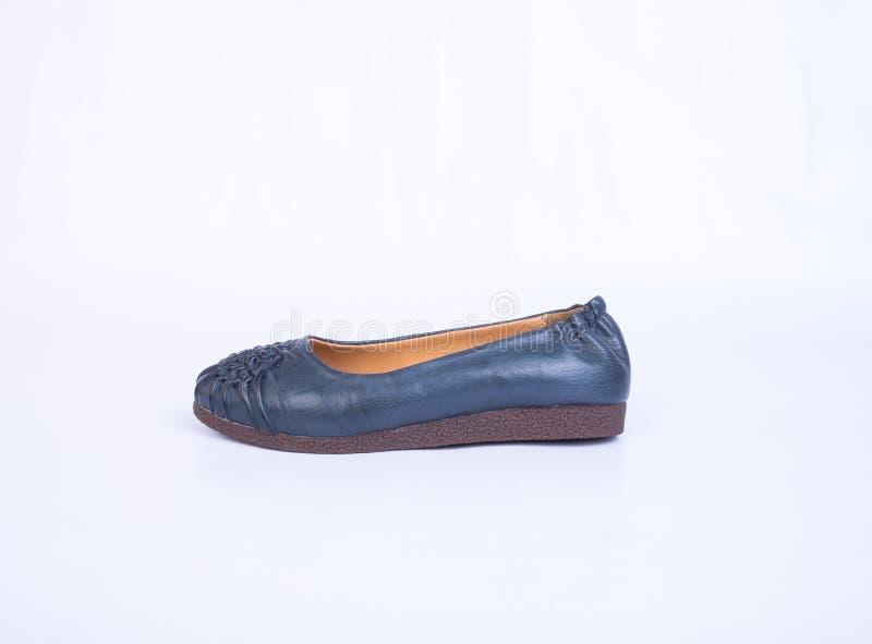 but lub błękitni kolor damy buty na tle zdjęcia royalty free