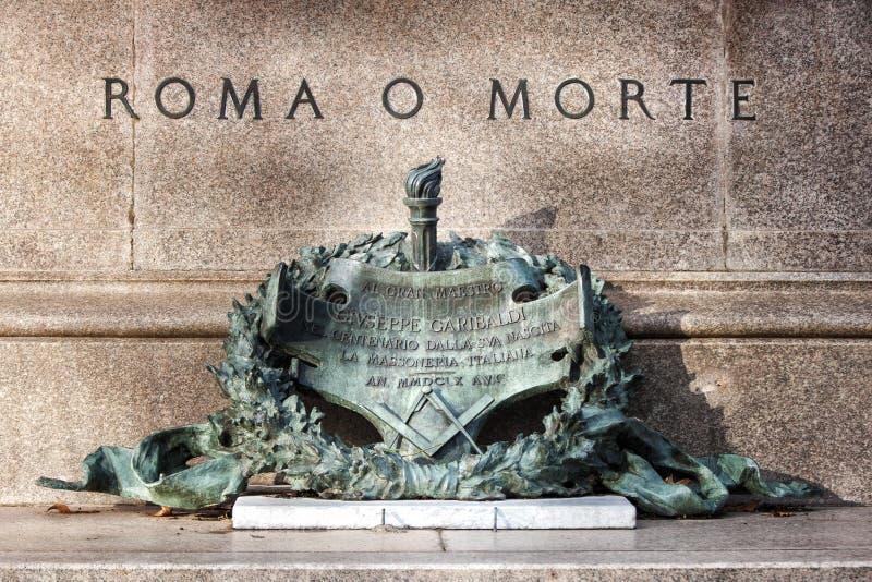 Lub Rzym lub śmierć, zdanie garibaldi zdjęcia stock