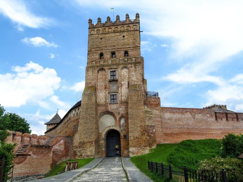 Lubart Castle or Upper Castle in Lutsk, Ukraine royalty free stock image