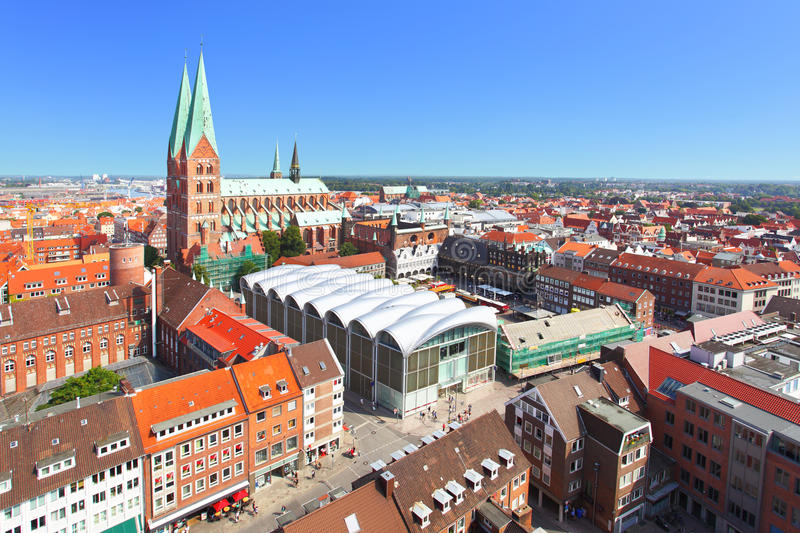 Download Lubeck stock photo. Image of landmark, europe, towers - 26769094