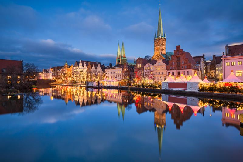 Lubeck, Germany during Christmas royalty free stock image
