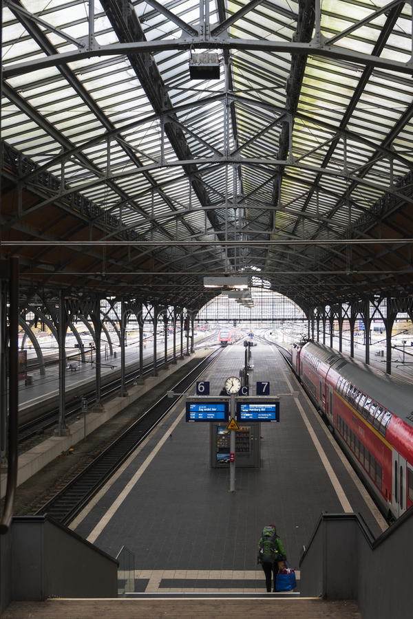 LUBECK, GERMANY - NOVEMBER 10, 2016: Luebeck Hauptbahnhof the ma royalty free stock photography