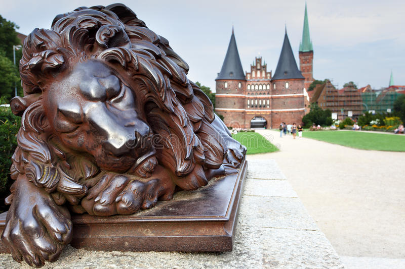 Download Lubek stock photo. Image of travel, sculpture, lion, symbol - 26436242