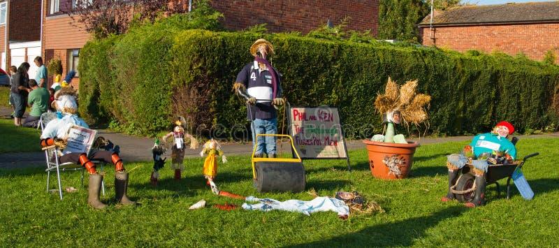 Lubenham Scarecrow Weekend stock images