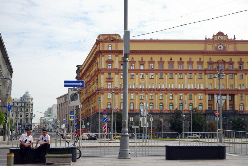 Lubianka广场在莫斯科 库存图片