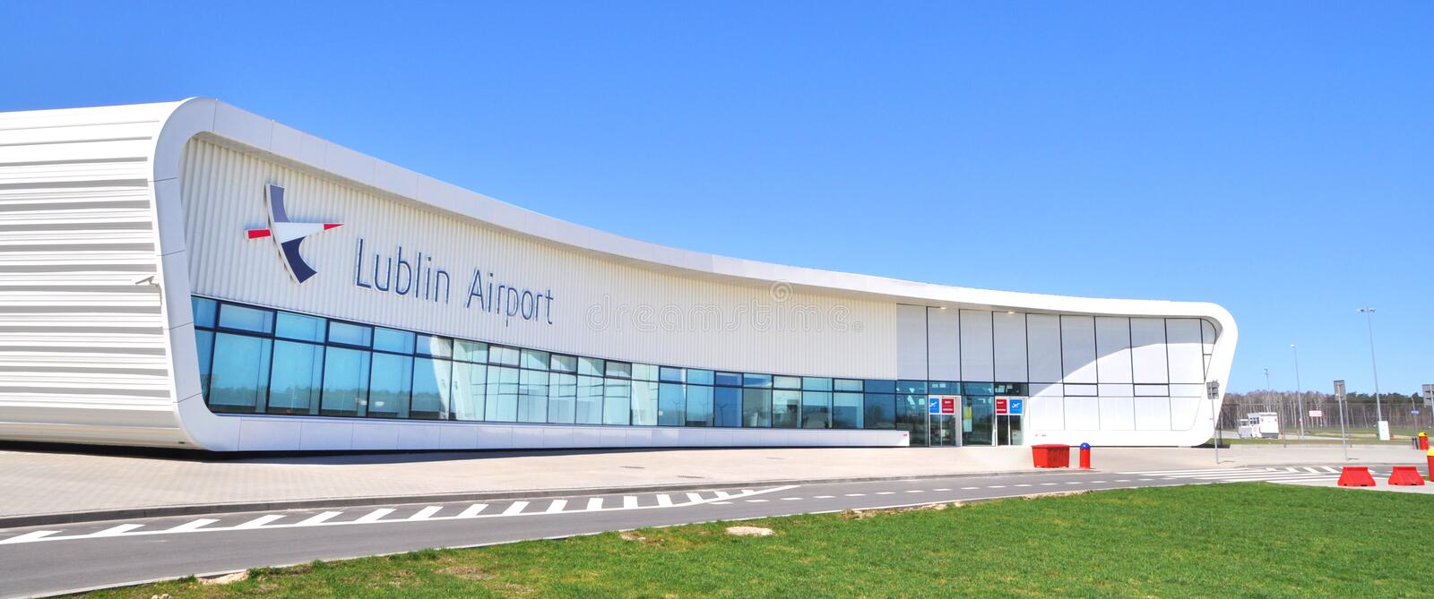 Lublin Airport. SWIDNIK, POLAND - APRIL 21: Lublin Airport, the newest airport in Poland, on April 21, 2013 in Swidnik, Poland stock photography