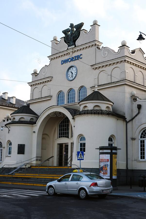 Free Lublin Central Railway Station Main Entrance. Vertical View Stock Photos - 169792773