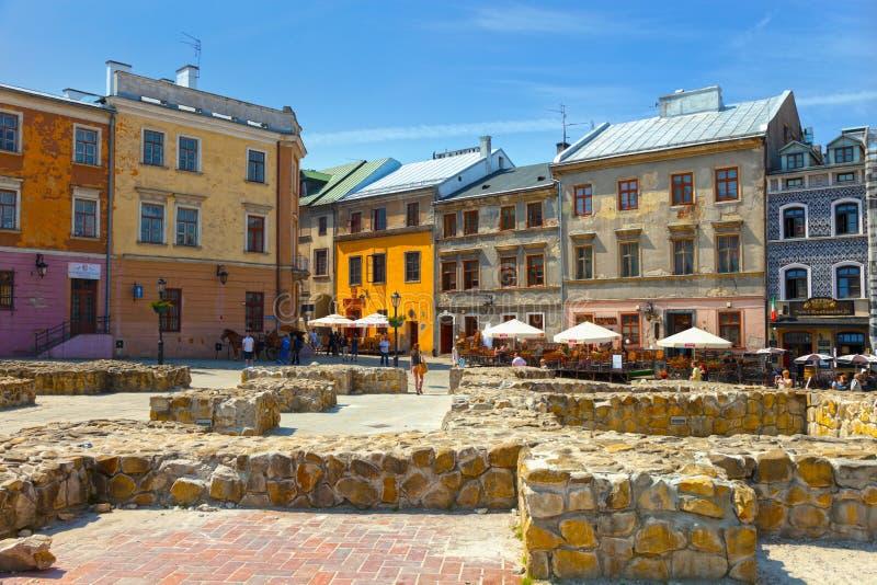 Lublin gammal stad arkivfoton