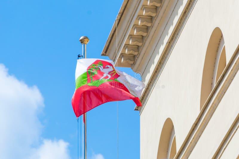 Lublin miasta flaga Lublin jest miastem w Polska zdjęcia stock