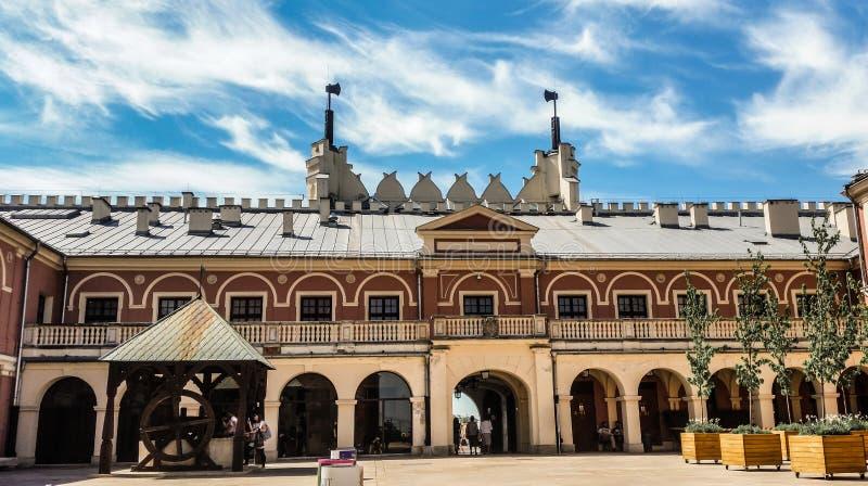 Lublin-Museum - Ansicht vom Schlossquadrat stockbilder