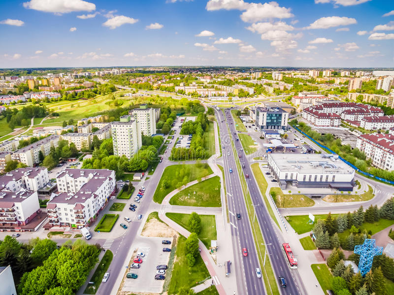 Download Lublin - Photos Of The Drone. District Czuby Seen From The Air. Stock Image - Image: 87590675