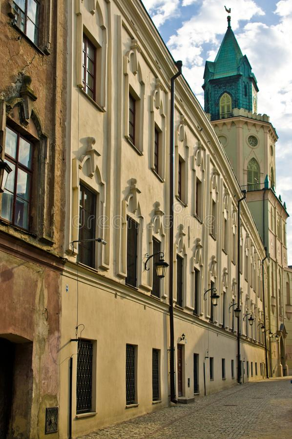 Lublin Poland, Old Town Jezuicka street stock images