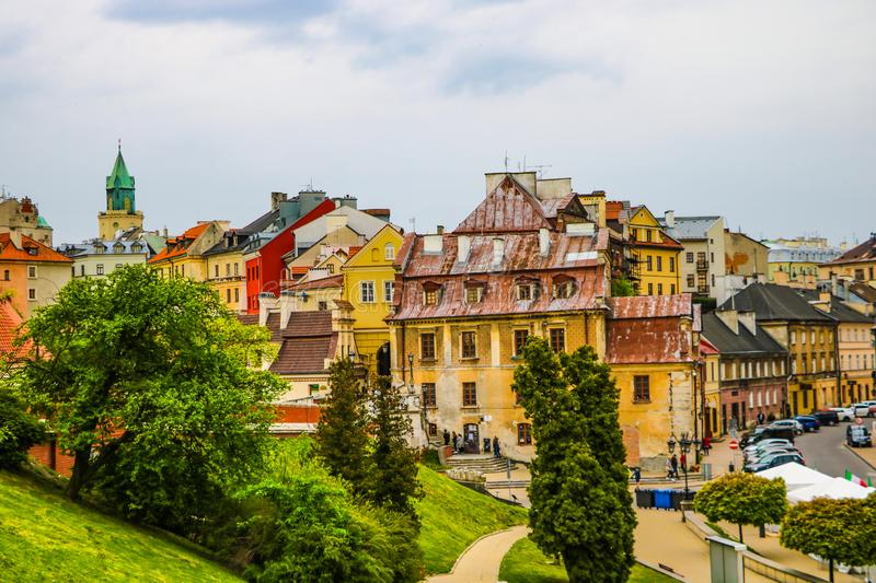 Panorama Of The City Of Lublin In Poland Stock Image