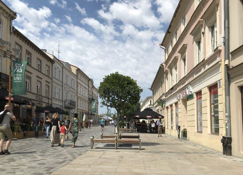 Lublin, Polen: De Oude Stads historische gebouwen royalty-vrije stock foto's