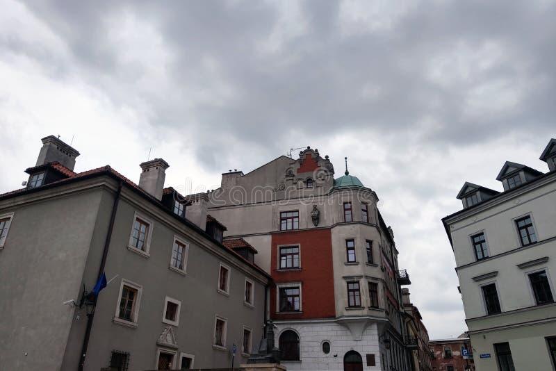 Lublin, Polen - Mei 14, 2019: Oude stad van Lublin royalty-vrije stock fotografie