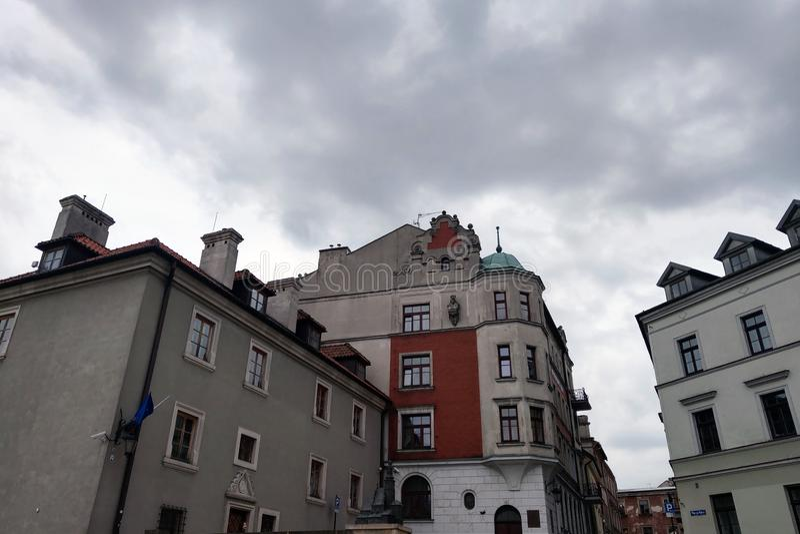 Lublin, Pologne - 14 mai 2019 : Vieille ville de Lublin photographie stock libre de droits