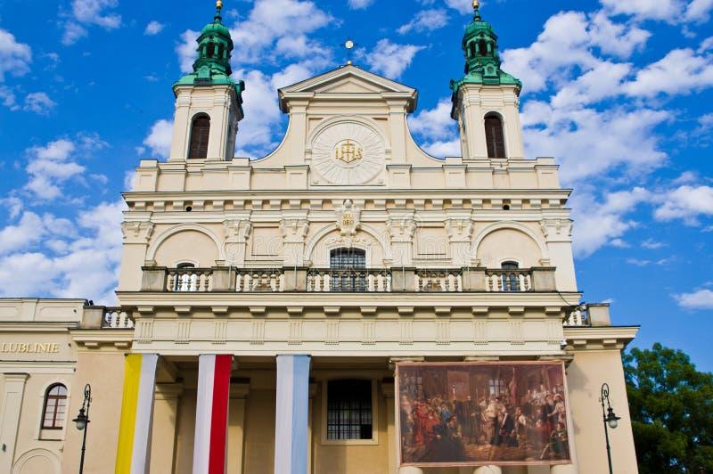 Lublin Polonia, catedral vieja de la ciudad imágenes de archivo libres de regalías