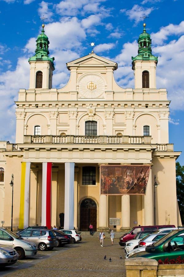 Lublin Polonia, catedral vieja de la ciudad fotografía de archivo libre de regalías