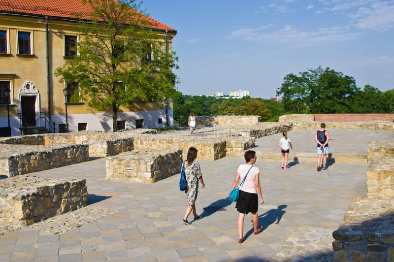 Lublin, Polonia: Cuadrado anterior de Fara imagenes de archivo