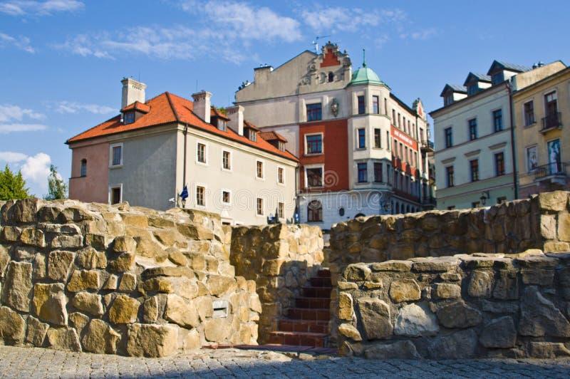 Lublin, Polonia: Cuadrado anterior de Fara imagen de archivo libre de regalías