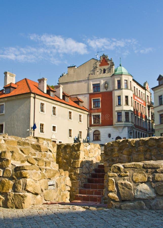 Lublin, Polonia: Cuadrado anterior de Fara imágenes de archivo libres de regalías