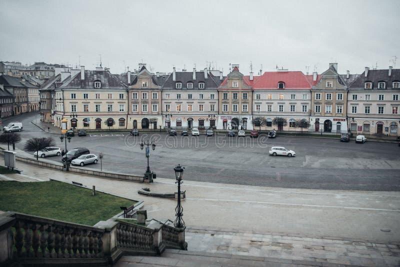 Lublin, Polonia la vista del área del castillo del castillo imagenes de archivo