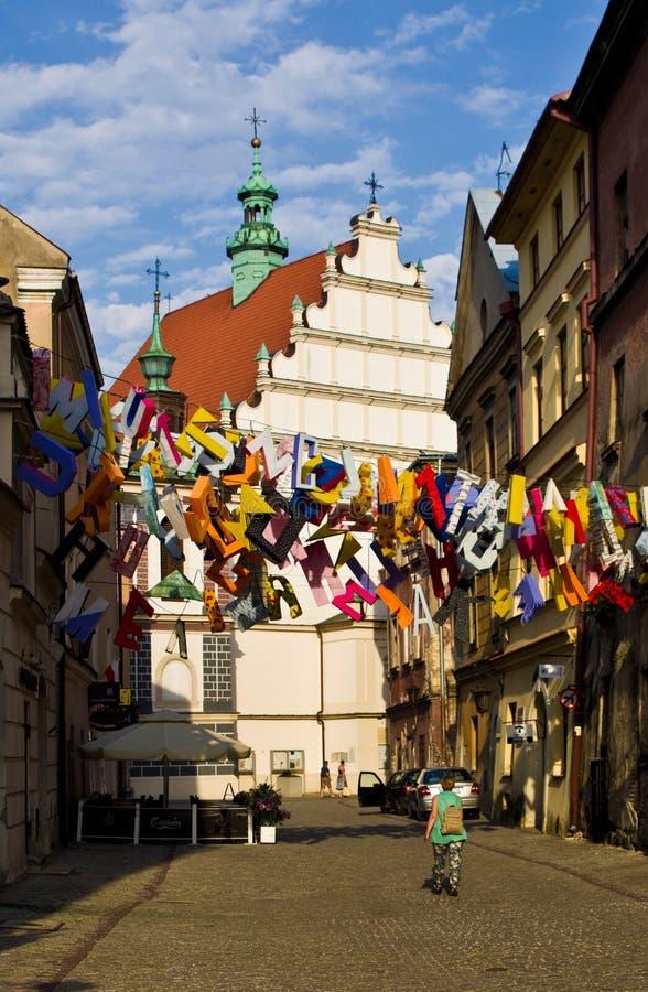 Lublin, Polonia, vieja arquitectura de la herencia de la UNESCO del centro de ciudad de la ciudad imagen de archivo libre de regalías