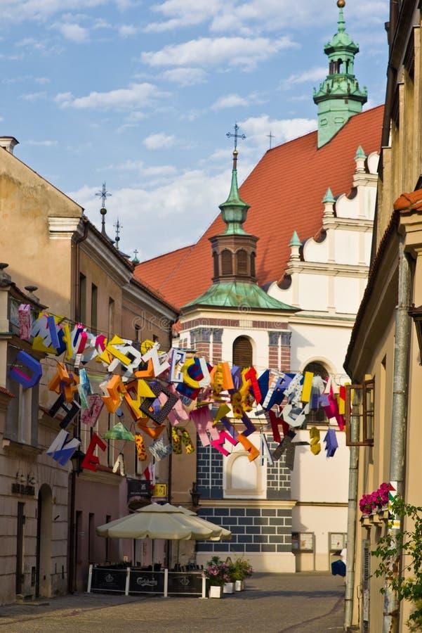 Lublin, Polonia, vieja arquitectura de la herencia de la UNESCO del centro de ciudad de la ciudad foto de archivo